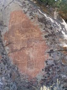 Petroglyphs Dubois WY