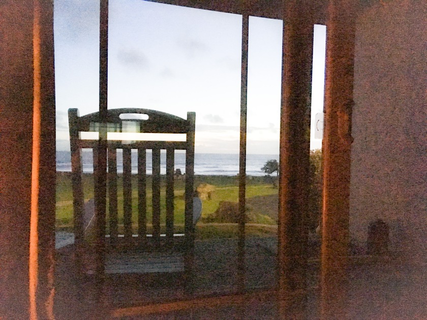 rocking chair and view of ocean